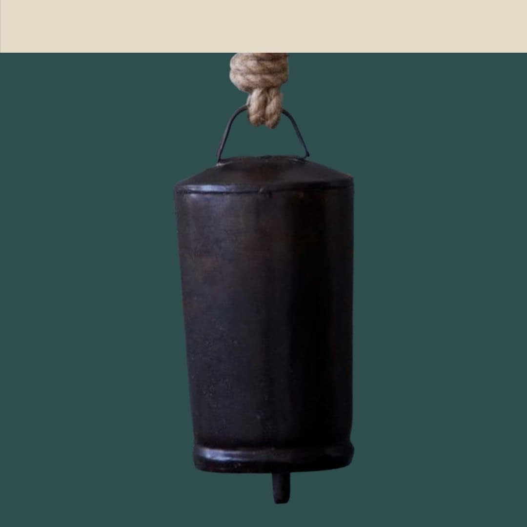 Handmade Black Cylinderical Bell 4