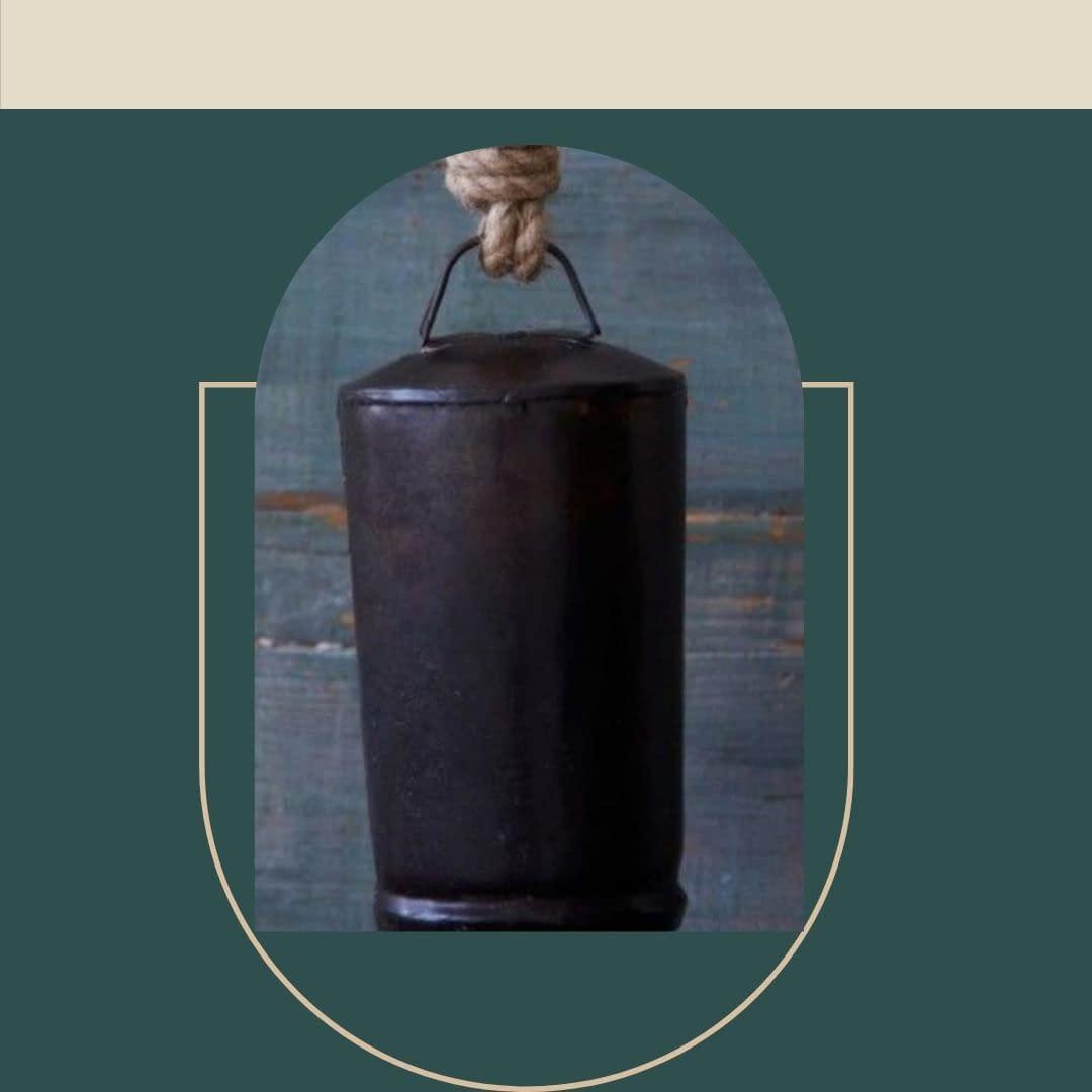 Handmade Black Cylinderical Bell 3