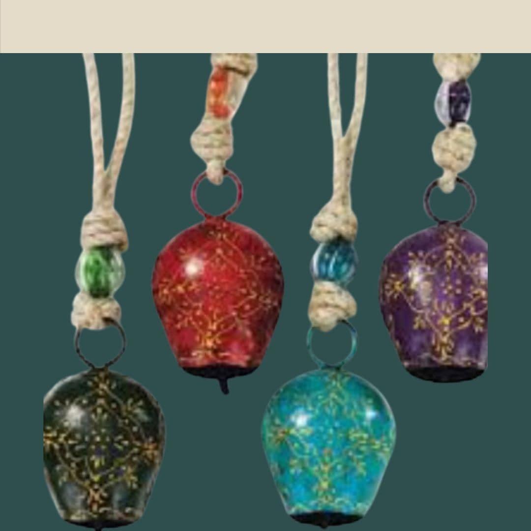 Handmade Colored Bells Big (Set of 4) 4