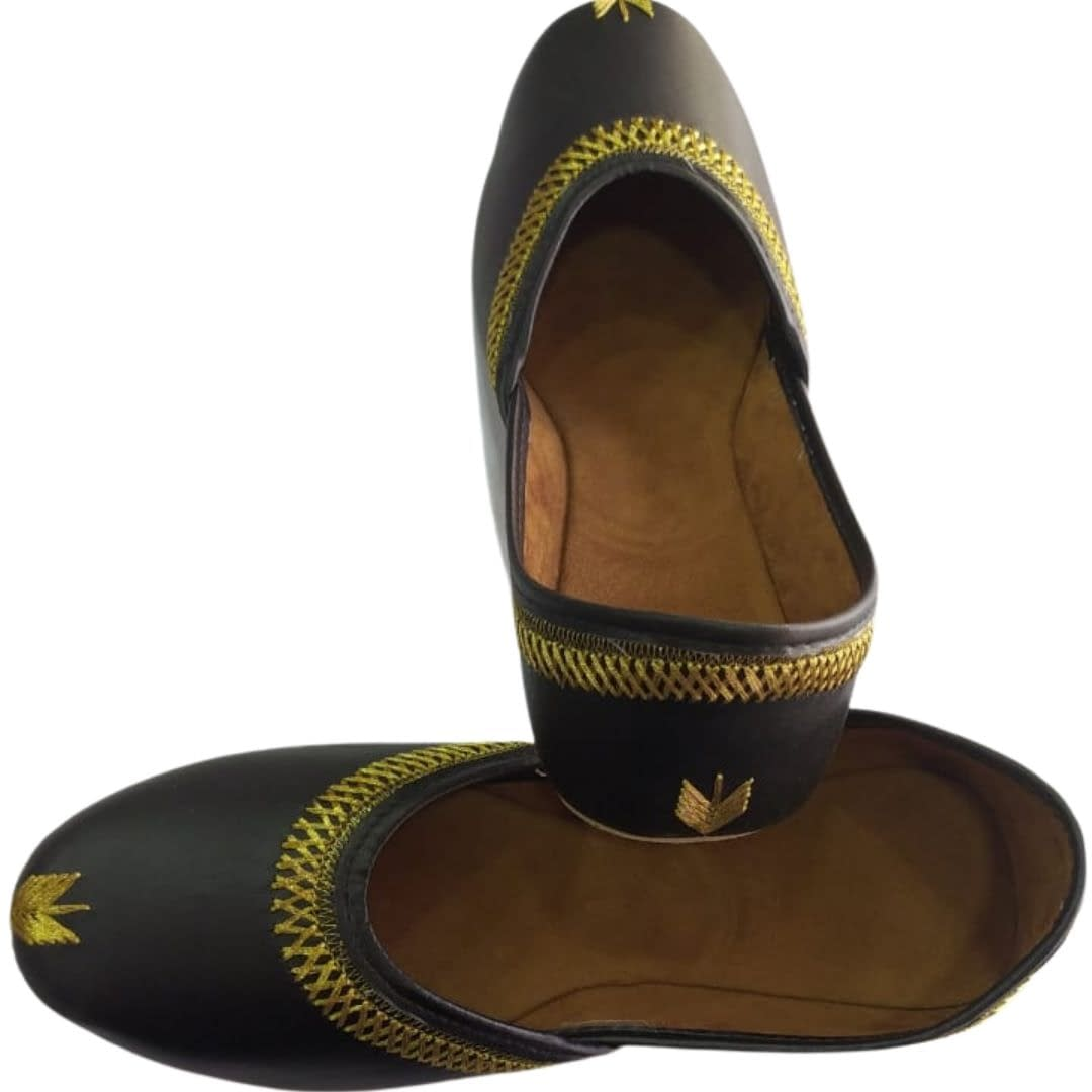 Handmade Comfortable Trendy Mojari Dark Brown 4