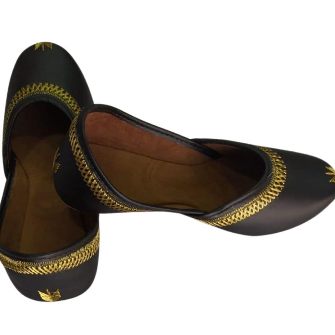 Handmade Comfortable Trendy Mojari Dark Brown 5