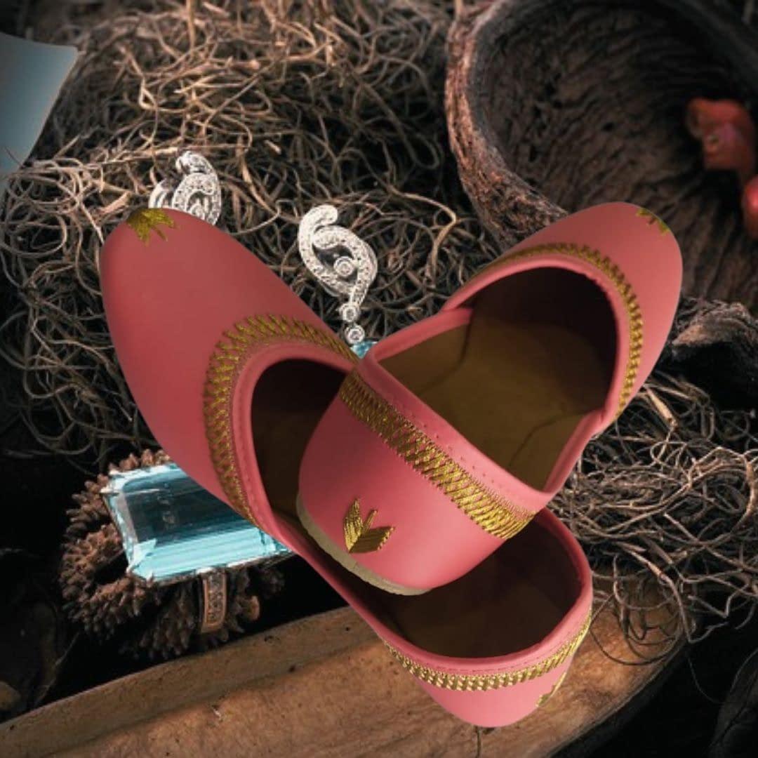 Handmade Comfortable Trendy Mojari Pink 3