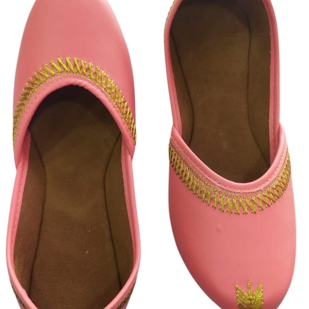 Handmade Comfortable Trendy Mojari Pink 4