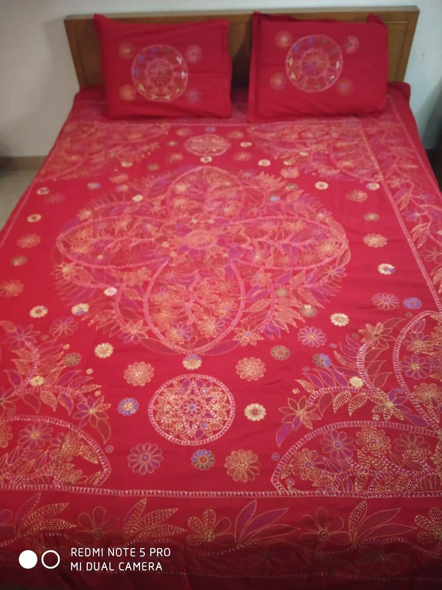 Handmade Handmade Nokshi Bedsheets 3