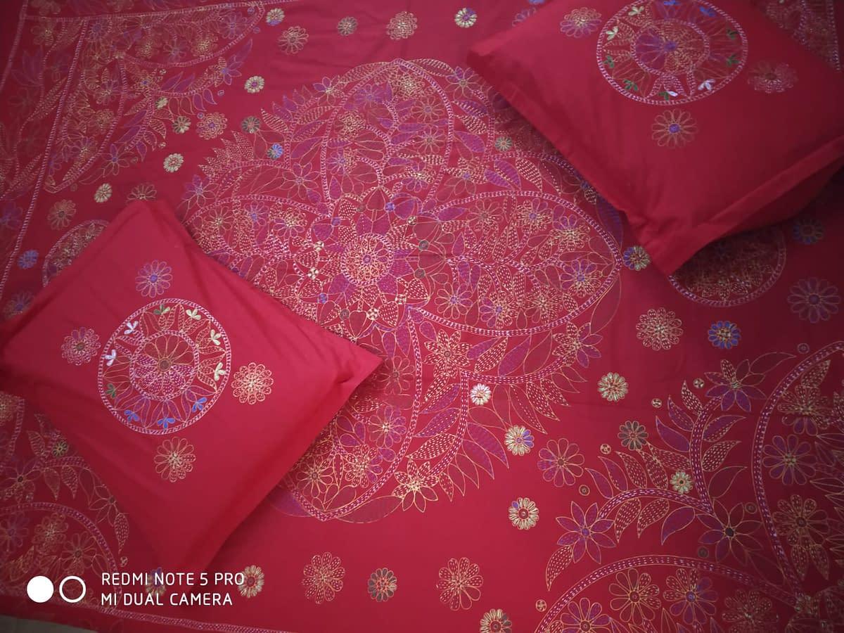 Handmade Handmade Nokshi Bedsheets 4