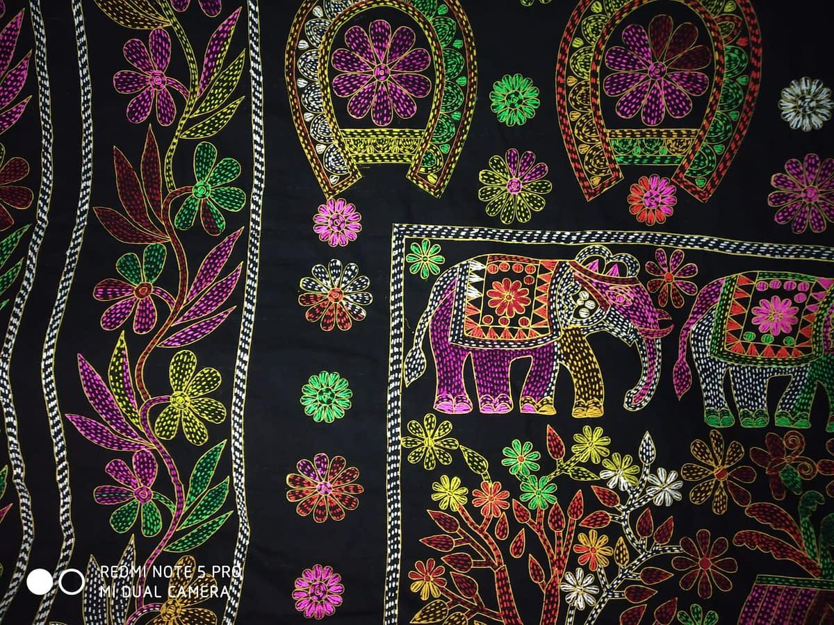 Handmade Nokshi Katha Black 4