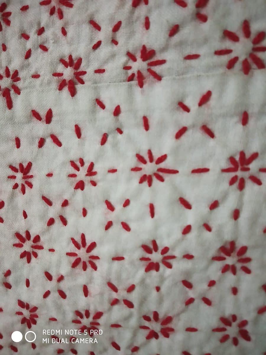 Handmade Nokshi Katha White 4