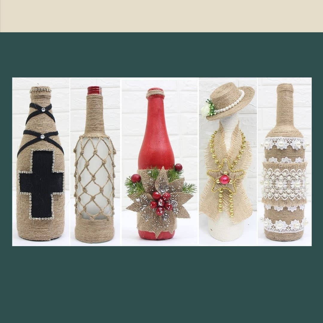 Handmade Pair of Decorated Bottle 4
