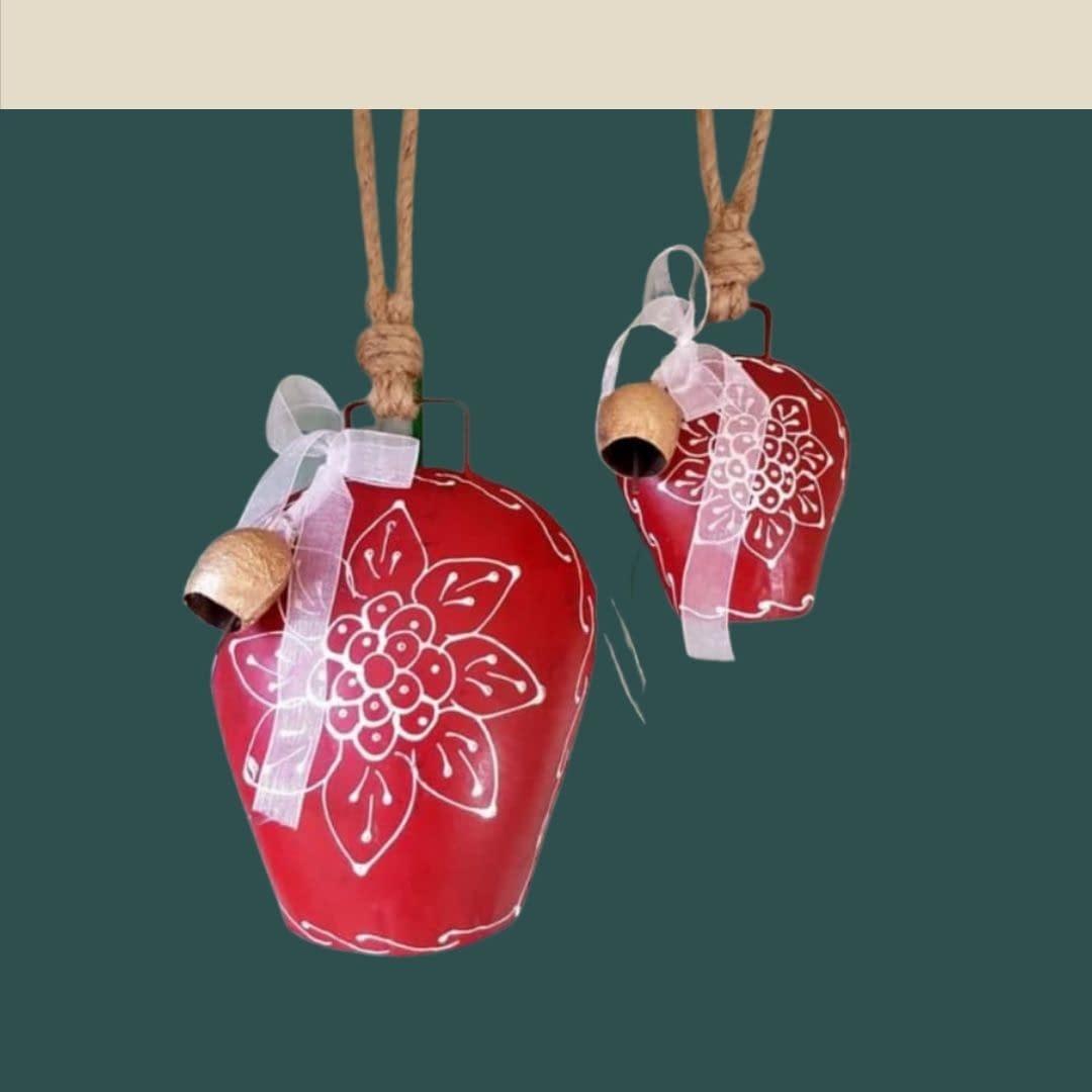 Handmade Red big Bells 4