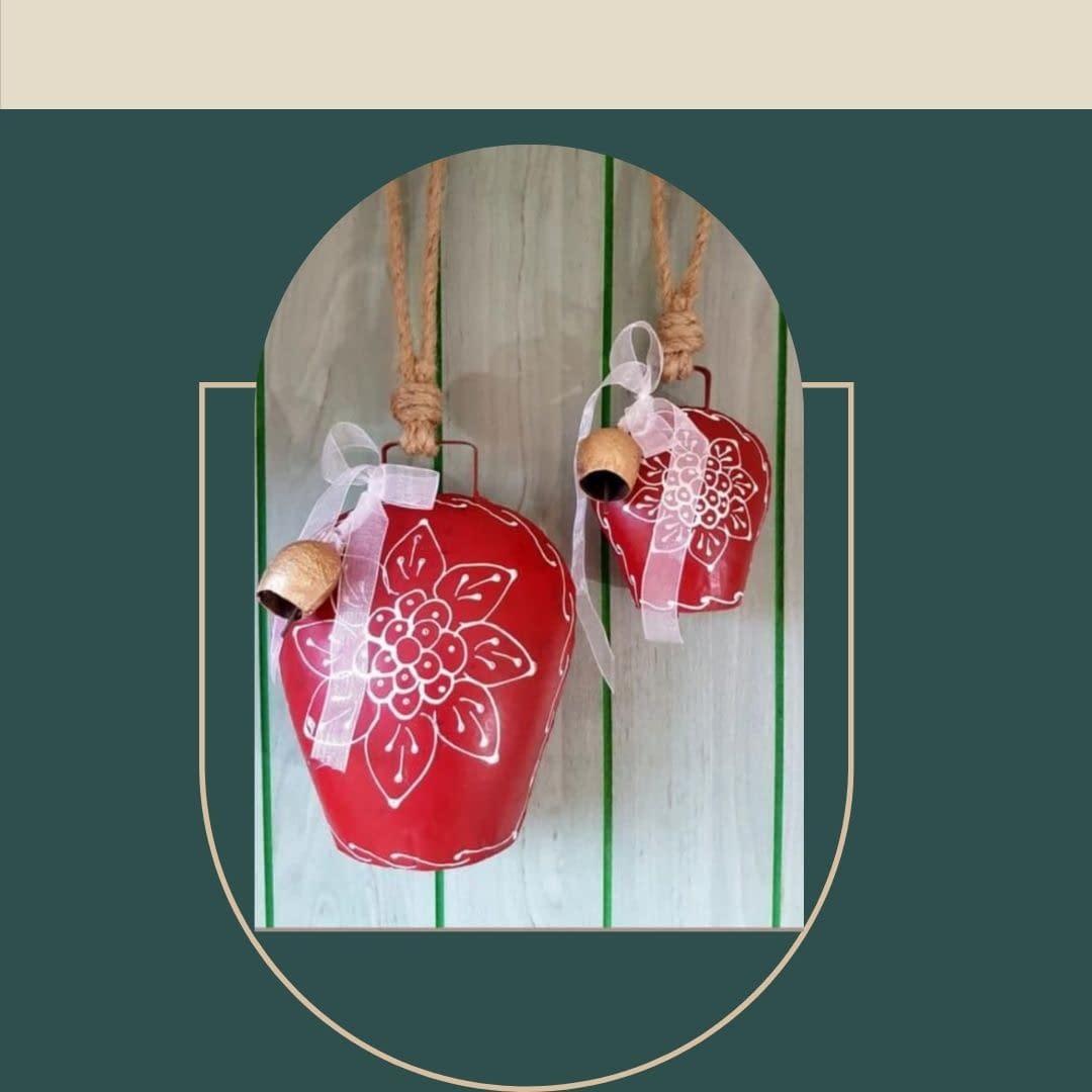 Handmade Red big Bells 3