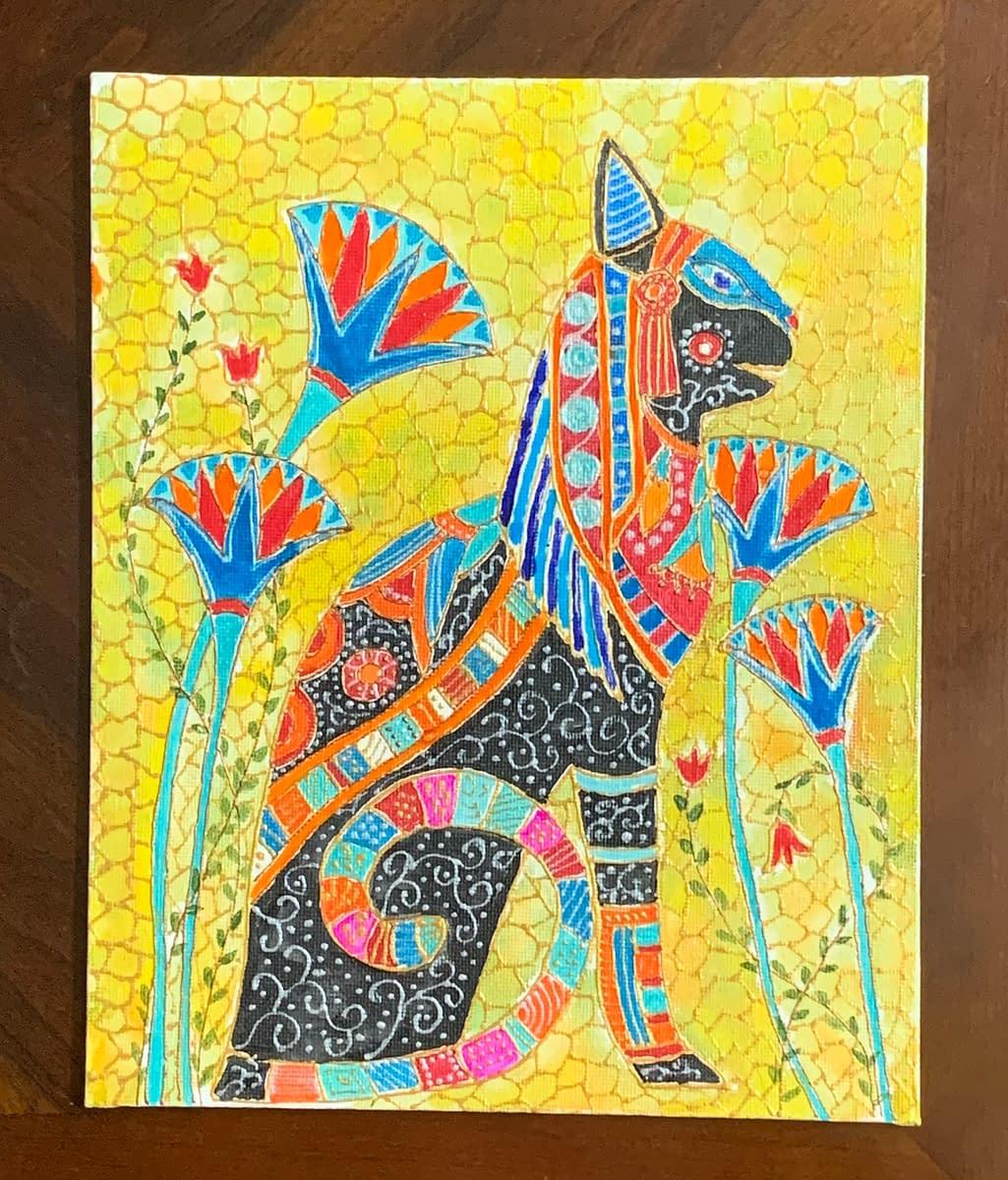 Handmade Egyptian Bastet Modern Art 3