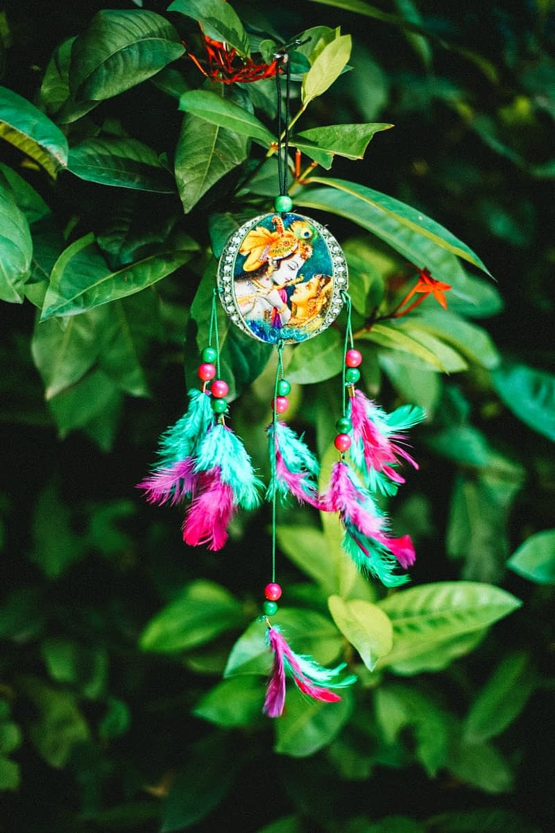 Handmade Radha Krishna Dream Catcher 3