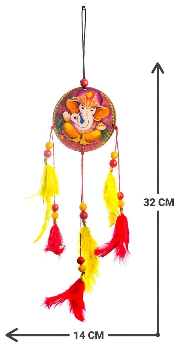 Handmade Ganesha Orange dream Catcher 4