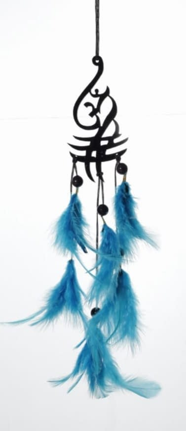 Handmade Aum Symbol Blue Feather Dream catcher 4