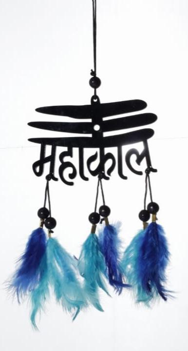 Handmade Mahakal Dream cather with Blue Feather 5