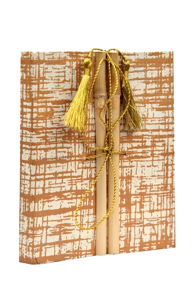 Handmade Hand made Paper Bamboo Artist Diary (Set of 2) 3