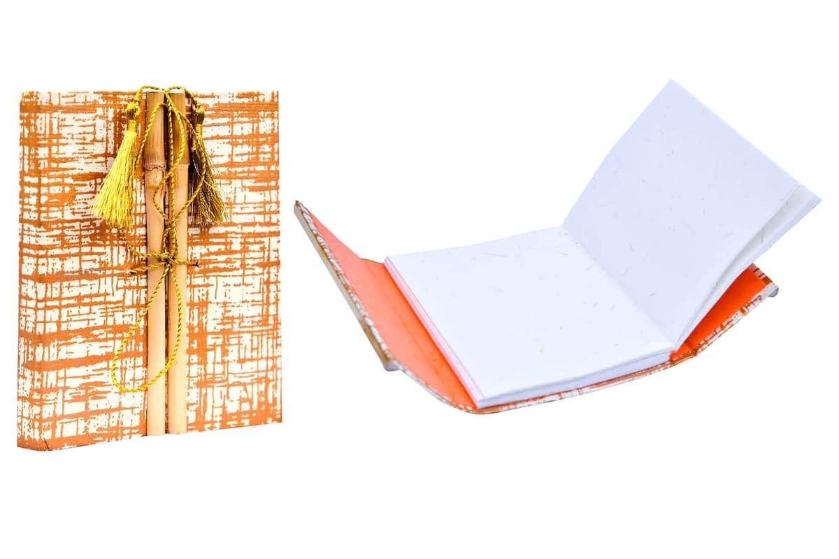 Handmade Hand made Paper Bamboo Artist Diary (Set of 2) 4