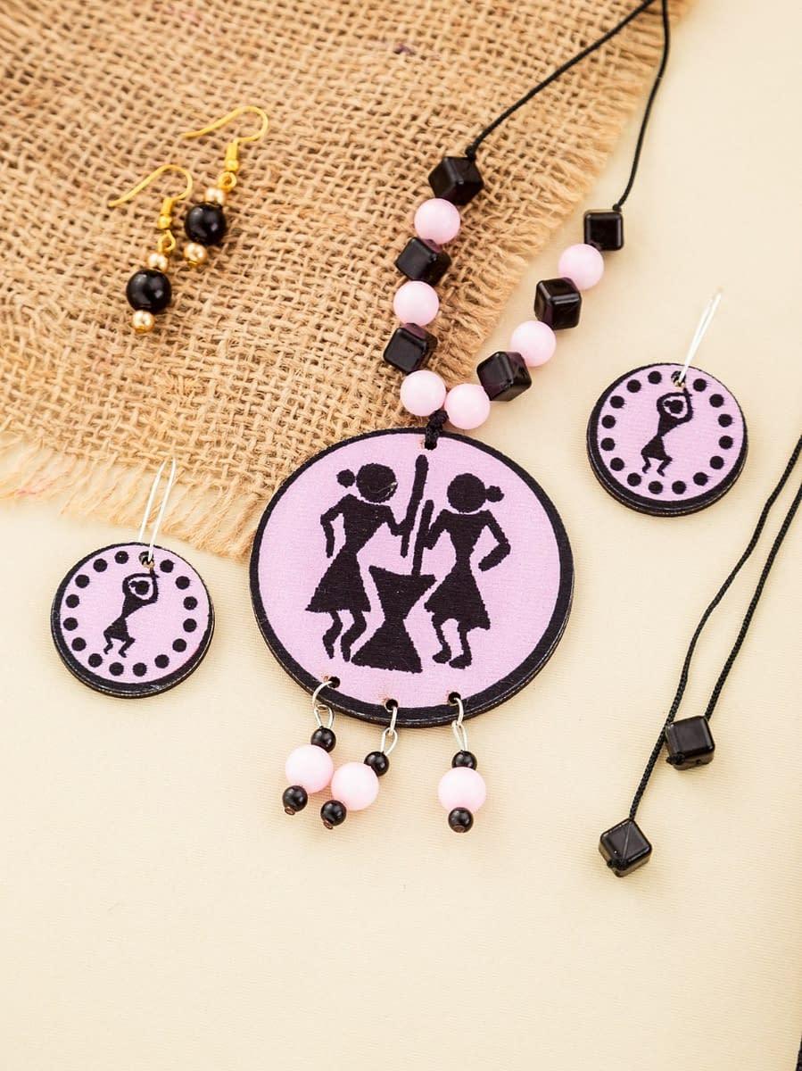 Handmade Elegant Women necklace set with earring 3