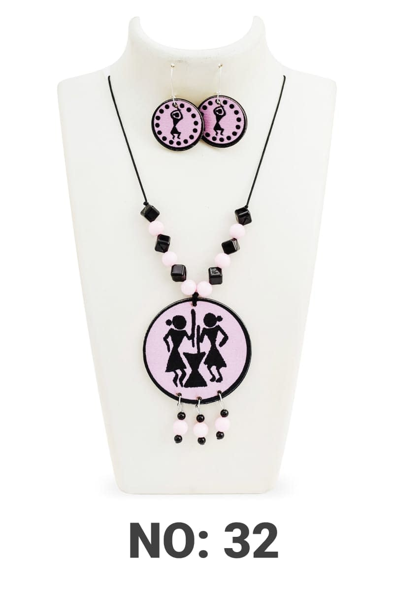Handmade Elegant Women necklace set with earring 4