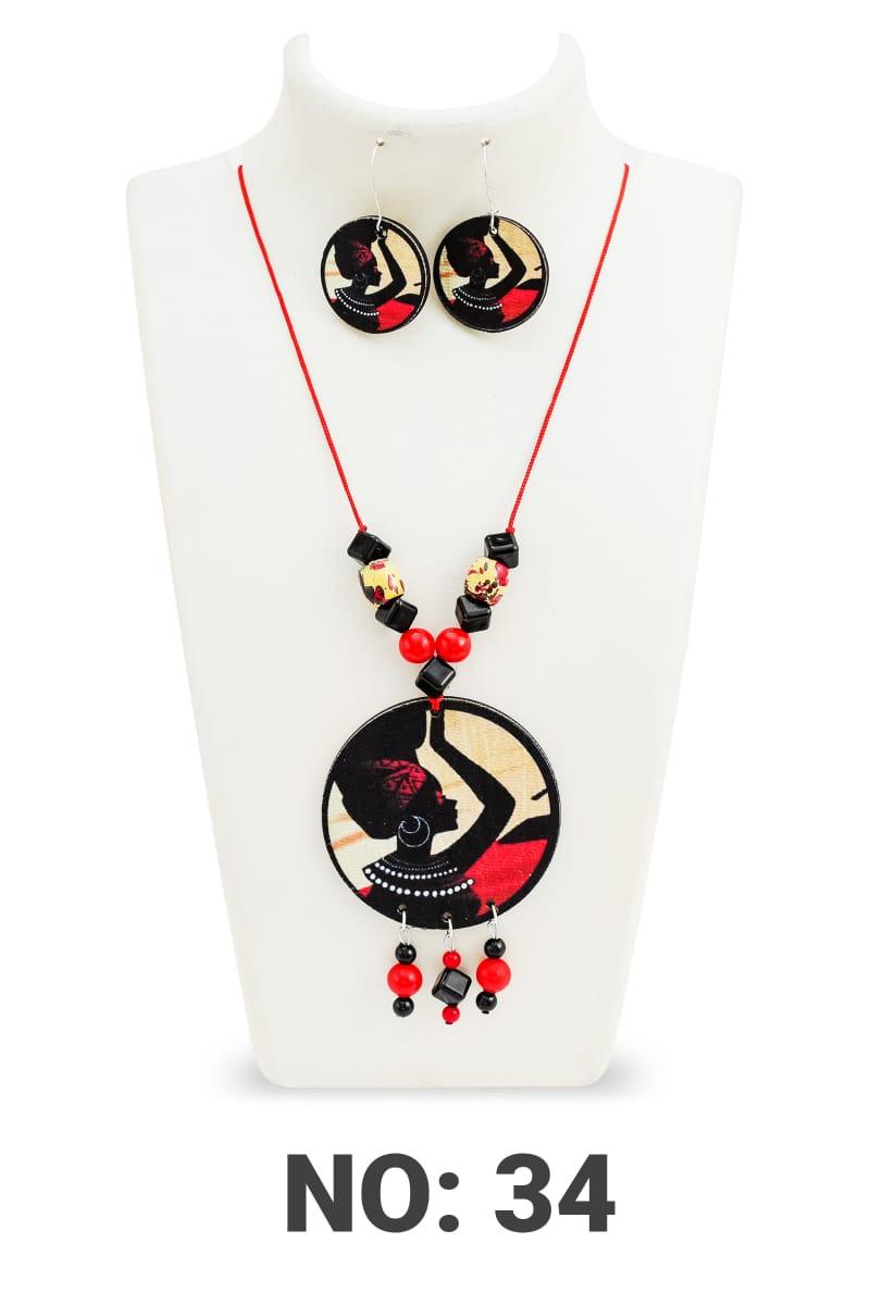 Handmade Twinkling Fancy Women necklace set with earring 3