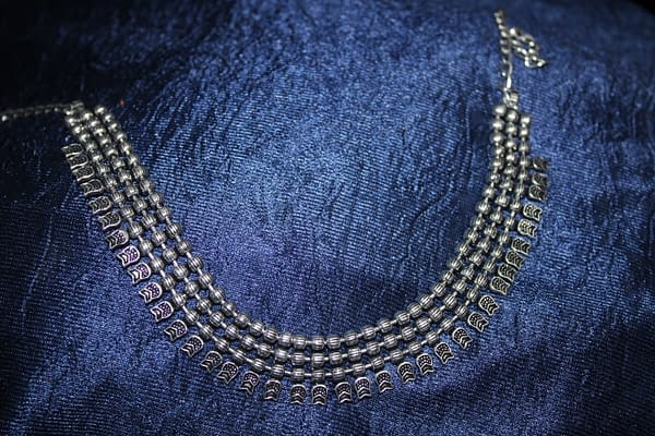 Handmade Triple chain necklace 3
