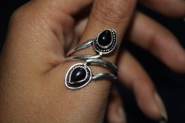Handmade Twin Stone Ring 3