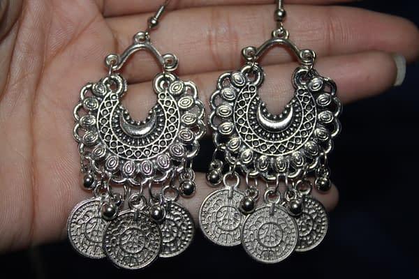 Handmade Sun moon Earring