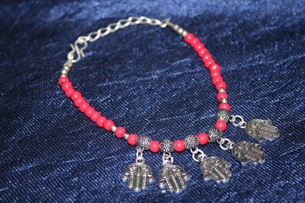 Handmade Stone Bracelet – Pink 3