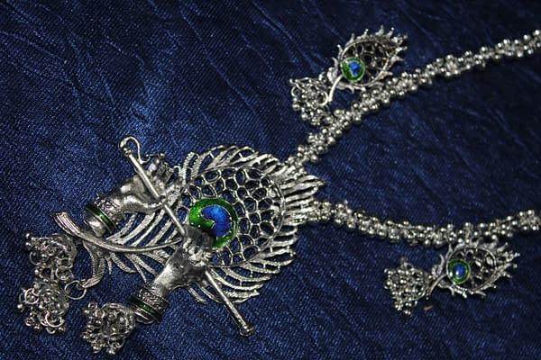 Handmade Krishna Necklace set- Shyama