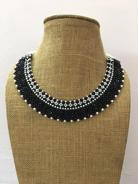 Handmade Cristal Pearl Necklace