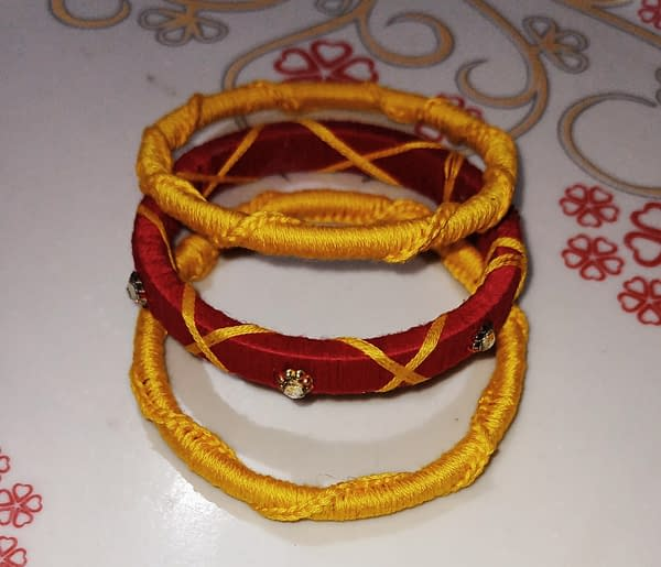 Handmade Red Bangles 3