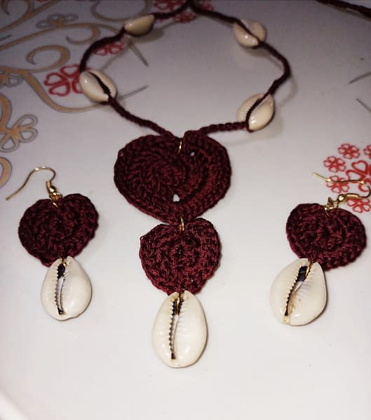 Handmade Crochet juellary set 3