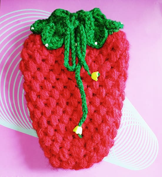 Handmade Red Pouch