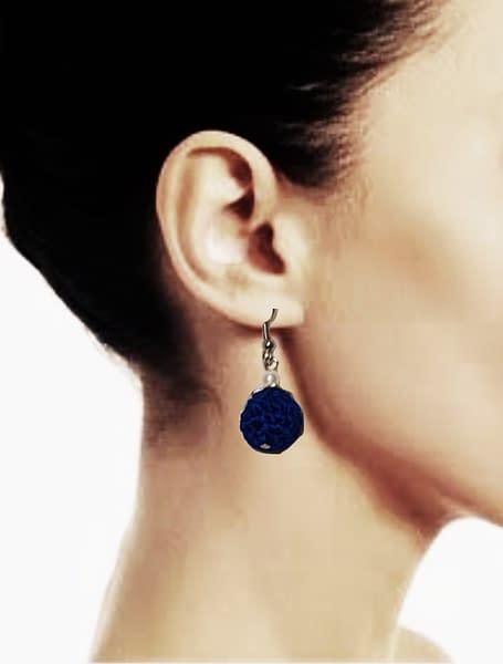 Handmade Crochet bead earrings