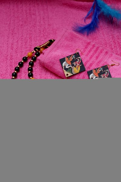 Handmade Wooden & Pearl Necklac