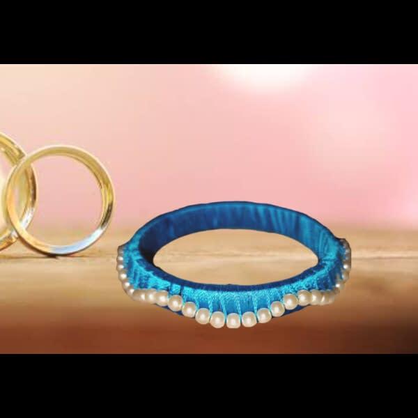 Handmade Blue Bangle 3