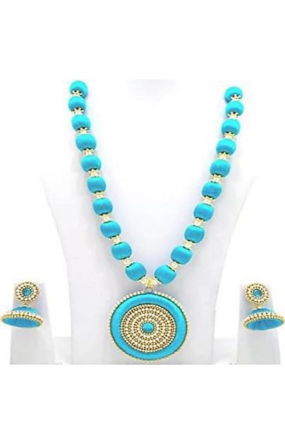 Handmade Handmade silk thread necklace