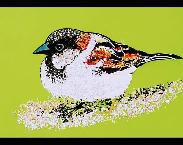 Handmade 3d Portrait of Bird