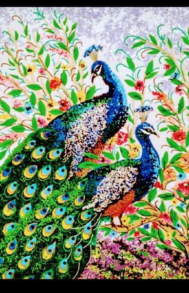 Handmade 3d Portrait of Peacocks 3