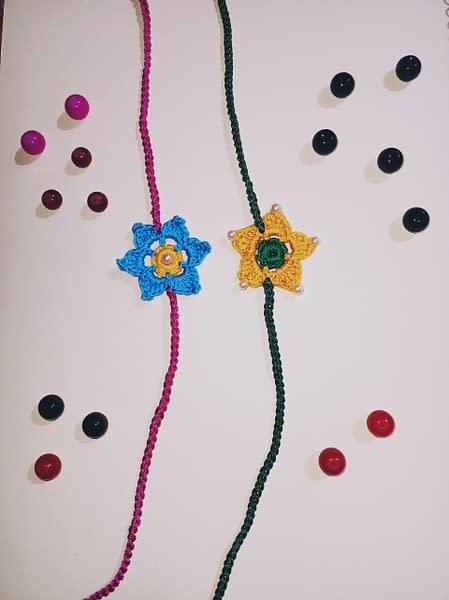 Handmade Crochet Rakhi-1