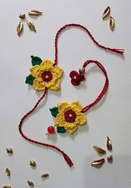 Handmade Crochet Lumba Rakhi