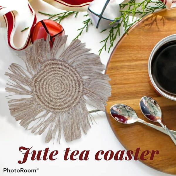 Handmade Jute tea coasters