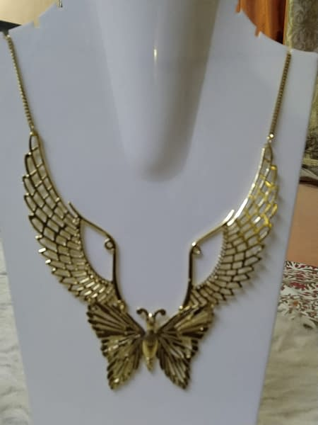 Handmade Angel's Wings Necklace with Butterfly Pendant 3