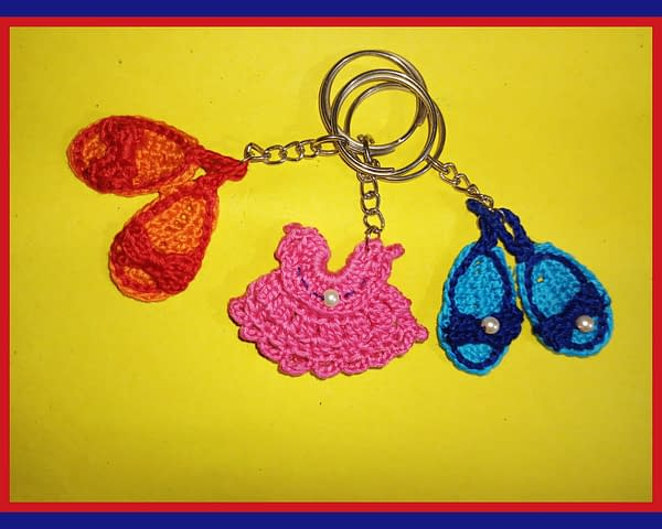 Handmade Crochet keychains set