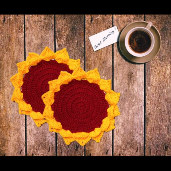 Handmade Crochet coasters combo 3