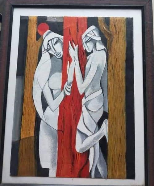 Handmade Nar-Nari(Man & Woman) painting 3