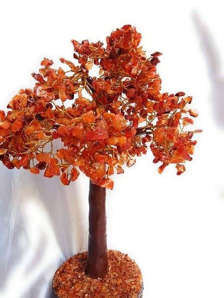 Handmade Red Carnelian chips tree