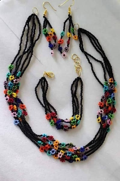 Handmade Seed-bead necklace set