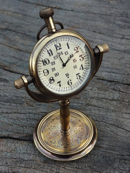 Handmade Desktop clock , Table Clock , Table watch custom gift 3