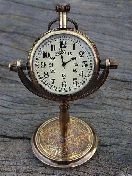 Handmade Desktop clock , Table Clock , Table watch custom gift